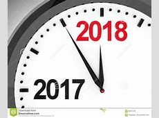 Clock dial 20172018 stock illustration Image of date