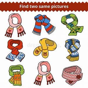 Gleiche Bilder Finden : finden sie zwei gleiche bilder satz gestrickte schals vektor abbildung illustration von katze ~ Orissabook.com Haus und Dekorationen