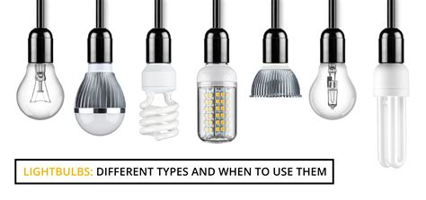 different types of light bulbs light bulbs different types and when to use them wire craft