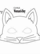 Mask Cat Halloween Printable Pete Masks Crafts Face Cut Templates Template Womansday Easy Paper Animal Construction Activities Diy Cats Costume sketch template