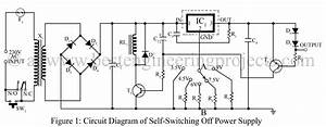Self switching off power supply for Voltage switching