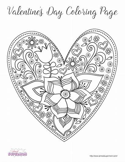 Coloring Pages Valentine Grown Adult Ups Valentines
