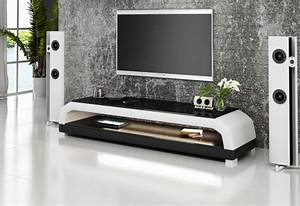 meuble tv personalisable aspect cuir modele cruise With meubles haut de gamme contemporain