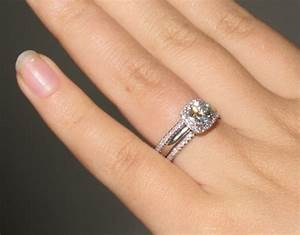 Pin by aryn franklin on a girl can dream pinterest for Wedding band to go with halo ring