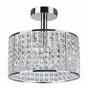 Crystal ceiling light for bathroom for Chandeliers for bathrooms uk