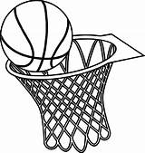 Basketball Hoop Basket Drawing Coloring Pages Goal Musthavemenus Graphics Template Found Printable Sheets Sketch Clipartmag Sheet Jersey Getdrawings Getcolorings Colo sketch template