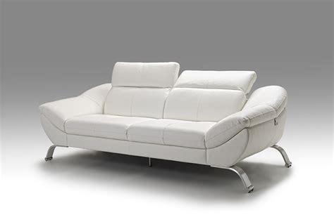 meuble canap en cuir blanc italien pour salon design