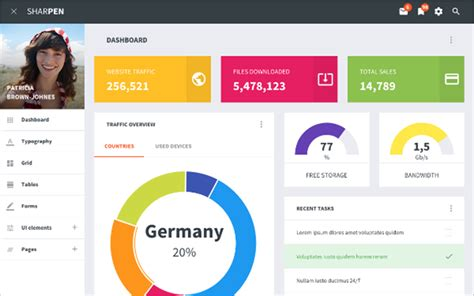 Bootstrap Dashboard Template 16 Bootstrap Admin Dashboard Templates Free Premium