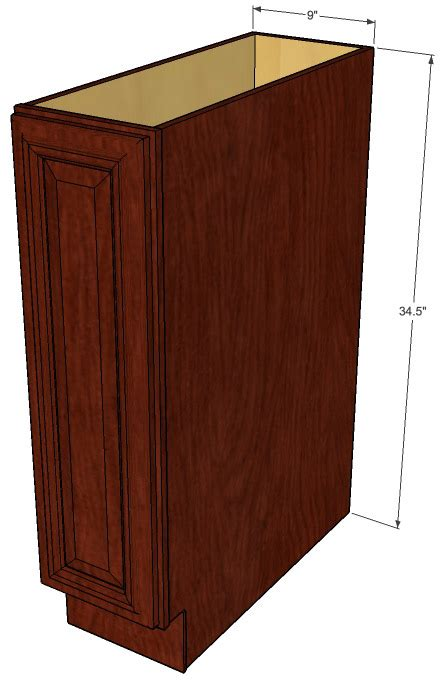 9 Inch Kitchen Base Cabinet by Brandywine Maple Small Base Cabinet With Single 9 Inch