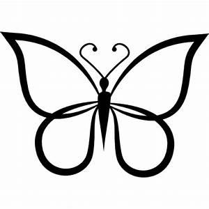 Forma de mariposa vista de esquema superior | Descargar ...