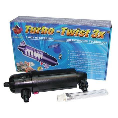 coralife 77070 3x turbo twist uv sterilizer new garden sales