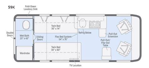 travato motor home class  rv sales  floorplans