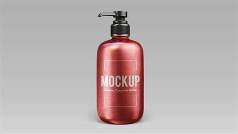 The biggest source of free photorealistic bottle mockups online! Free Metallic Cosmetic Bottle Mock-up In PSD » CSS Author