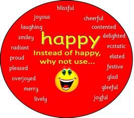 happy different ways to say happy