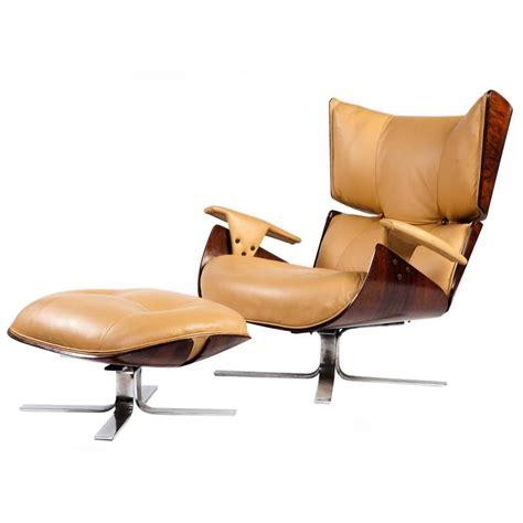 modern chair and ottoman quot paulistana quot mid century modern lounge chair and ottoman
