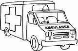 Ambulance Coloring Pages Printable Drawing Clipart Truck Outline Fire Cartoon Cliparts Line Sketch Colouring Template Dodge Templates Lifted Letter Cars sketch template