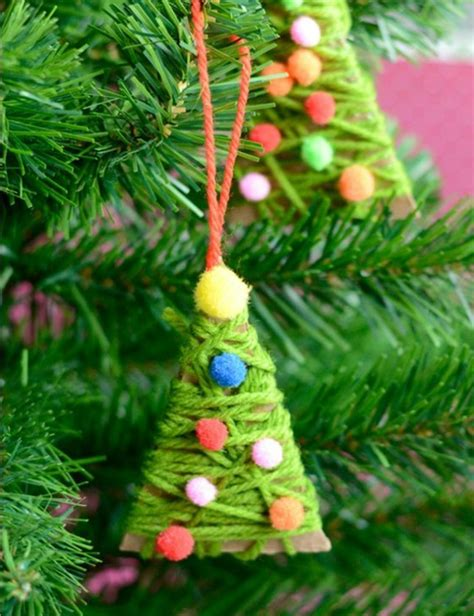 yarn wrapped tree ornaments 32 diy ornaments that are worlds more special 7363