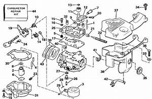 Johnson Carburetor Parts For 1988 9 9hp J10rccd Outboard Motor