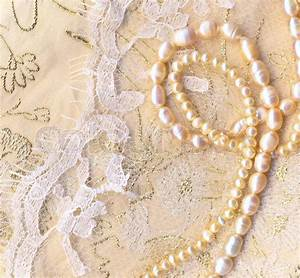 Nice wedding background with pearls   Stock Photo   Colourbox