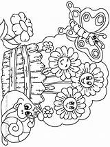 Coloring Garden Pages Printable Butterfly Flower Gardens Gardening Preschool Flowers Drawing Colouring Adults Adult Clipart Sheets Printables Prints Getdrawings Secret sketch template