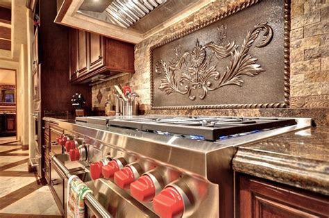 Metal Medallion Backsplash : Kitchen Backsplash Designs (picture Gallery)