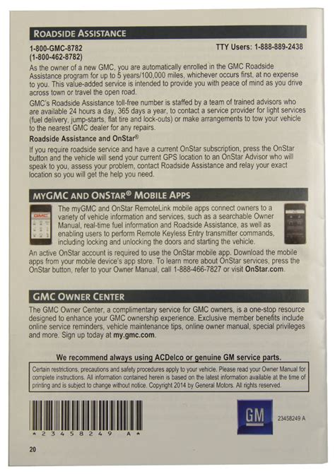 free service manuals online 2012 gmc yukon xl 2500 interior lighting 2015 gmc yukon yukon xl us owners manual book w warranty book new oem 23248415 ebay