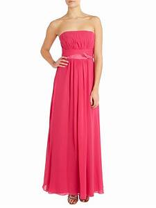 Ariella Bridesmaid Strapless Chiffon Dress in Pink (Hot ...