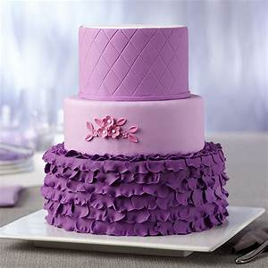 Radiant Orchid 3-Tiered Fondant Cake Wilton