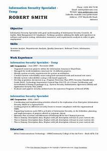 Information Security Specialist Resume Samples