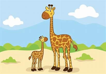 Animal Mom Vector Illustration Clipart Graphics