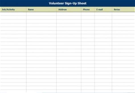 volunteer attendance sign  sheet attendance sign  sheet
