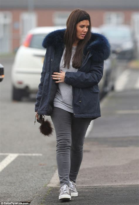 Rebekah Vardy steps out with Jamie and baby son Finley ...