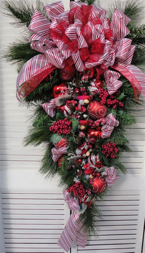1000 images about teardrop christmas wreath on pinterest