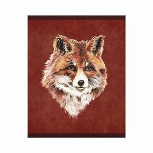 Cute Watercolor Red Fox Animal Painting Canvas Print | Zazzle