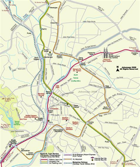 metro map  kuala lumpur johomaps