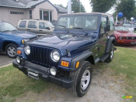 patriot jeep blue 2002 patriot blue pearl jeep wrangler sport 4x4 32682826