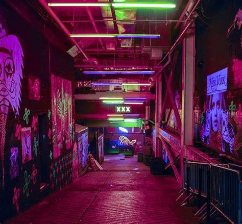 neon underground outer space cyberpunk aesthetic neon