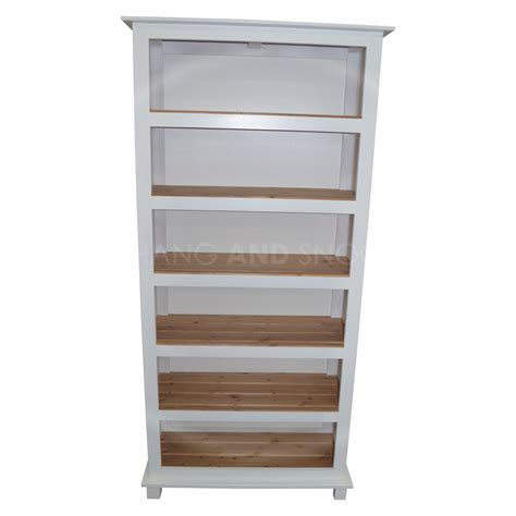 Assembled Bookcases by Made Furniture Florida 5 Shelf Bookcase White
