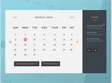 Freebie PSD Calendar UI & Events by Peter Finlan Dribbble