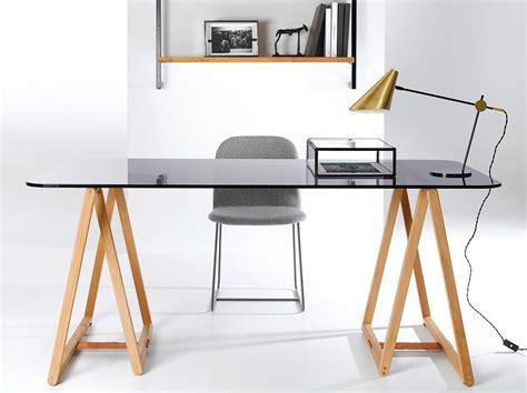 bureau treteau verre conceptions de maison blanzza com