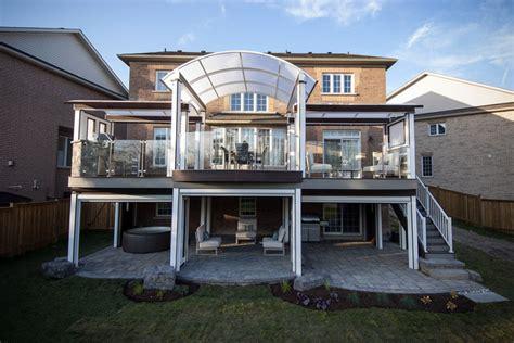 privacy deck modern patio toronto by phantom screens