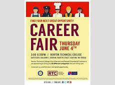 Career Services Career Fair at Renton Technical College