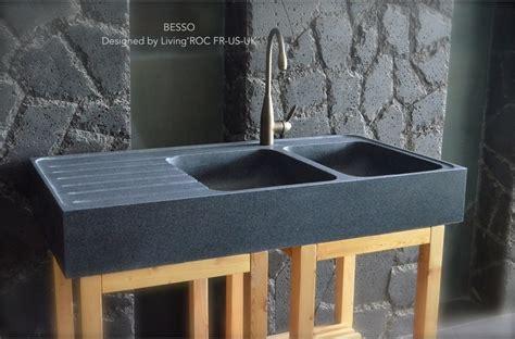 egouttoir cuisine 120x60cm évier en granit pour cuisine 2 cuves