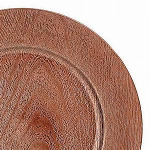 Sous Assiette Bois : lot de 12 dessous d 39 assiette effet bois cuivre d co de table eminza ~ Teatrodelosmanantiales.com Idées de Décoration