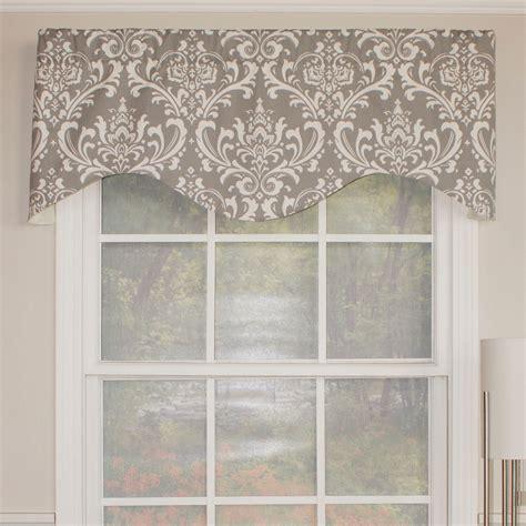 window valances and cornices rlf home royal damask cornice 50 quot curtain valance reviews wayfair