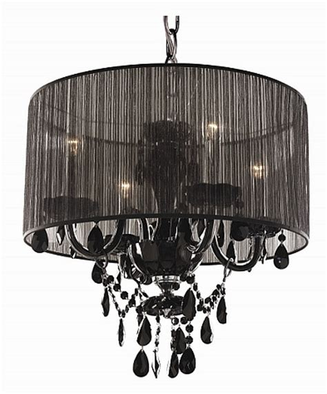 Black Chandelier Shade by Organza Shade Chandeliers