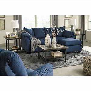 Ashley signature design darcy blue 7500718 contemporary for Stratford home pillows living room furniture