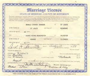 Sample Certificate Marriage License