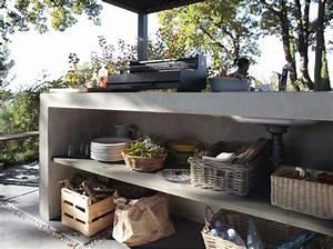 une cuisine d39exterieur pour l39ete With leroy merlin cuisine exterieure