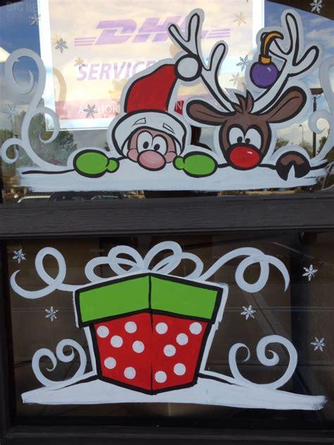 Weihnachtsdeko 2014 Basteln by Window Painting 2014 Schneemann Fenster